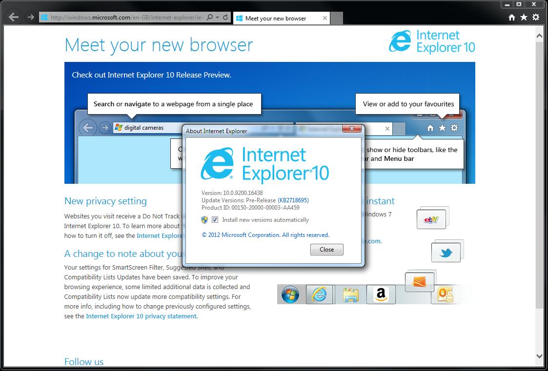 IE10 Windows 7