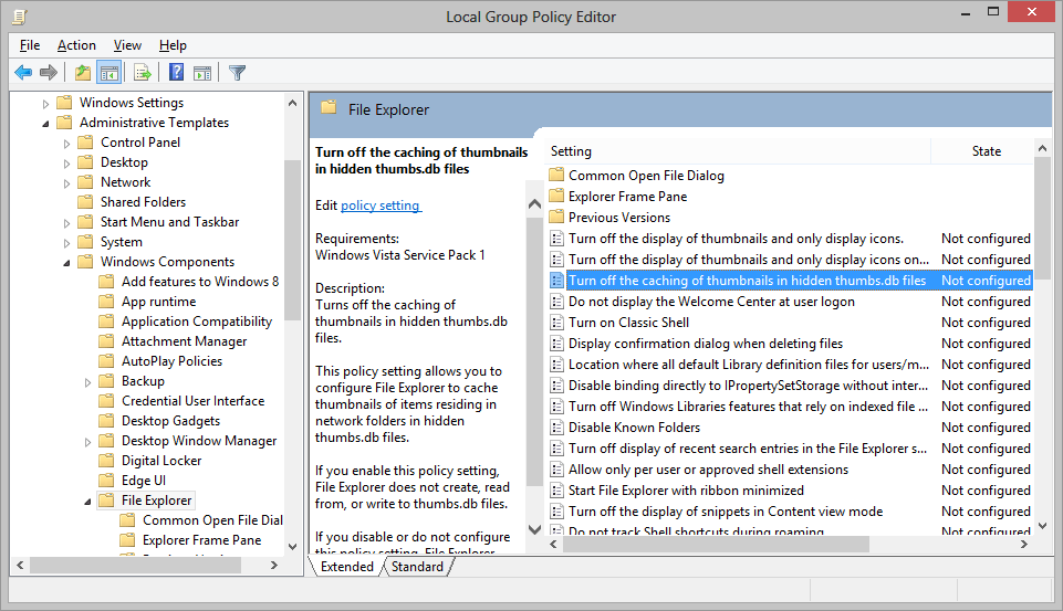 Local Group Policy Editor