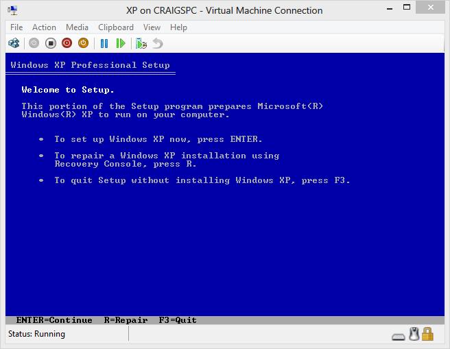 Hyper-V boot guest OS